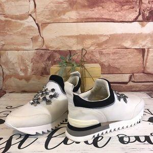 Tory Burch Rosas Embellished Runner Sneaker